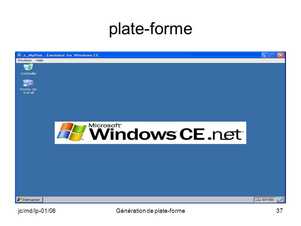 jc/md/lp-01/06Génération de plate-forme37 plate-forme
