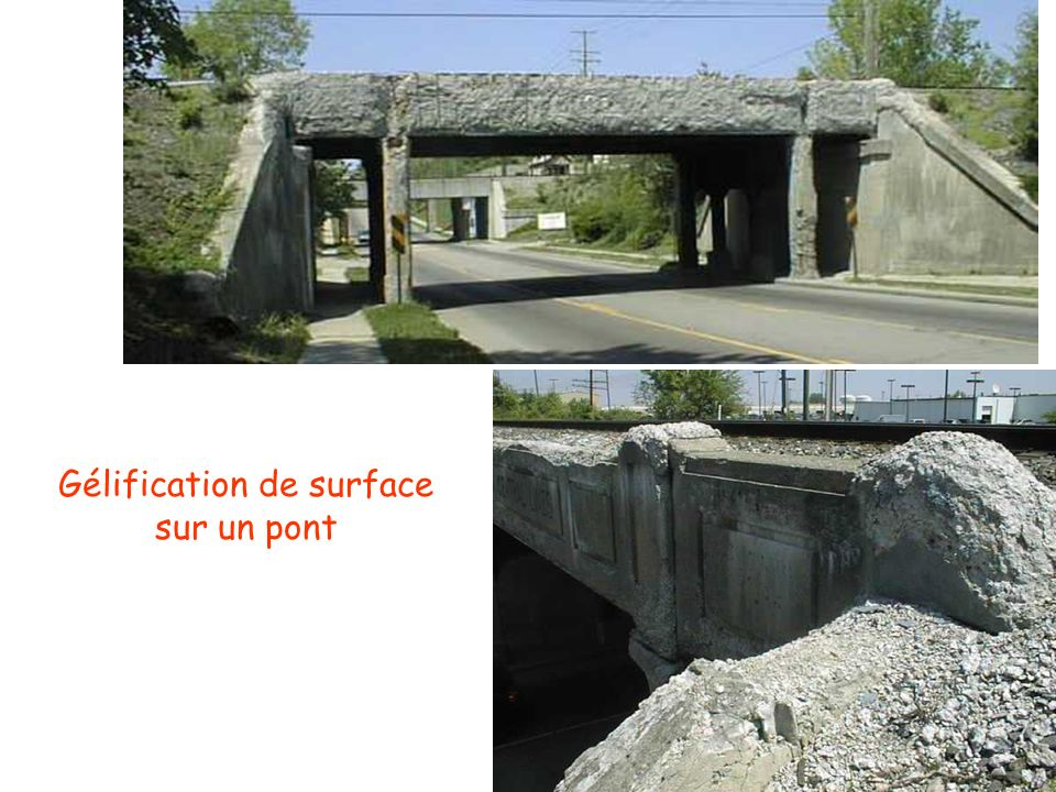 Gélification de surface sur un pont