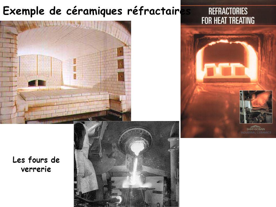 Exemple de céramiques réfractaires Les fours de verrerie