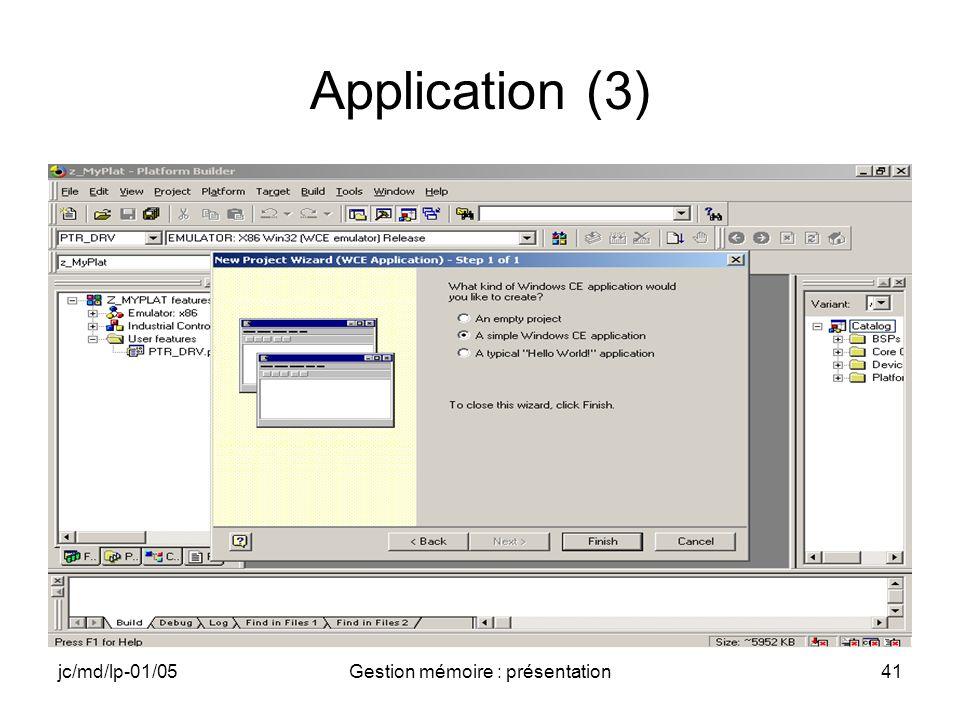 jc/md/lp-01/05Gestion mémoire : présentation41 Application (3)