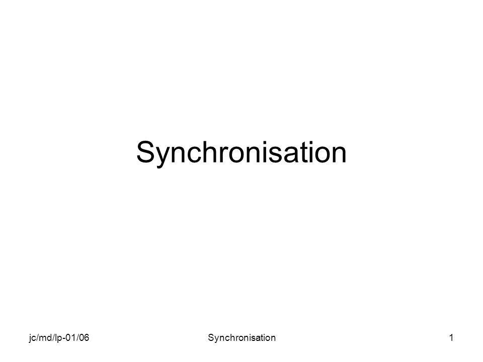 jc/md/lp-01/06Synchronisation2 Objectif du chapitre Création dune application ayant plusieurs threads Synchronisations entre threads –Section critique –Mutex –Événement –Sémaphore Exemples pratiques