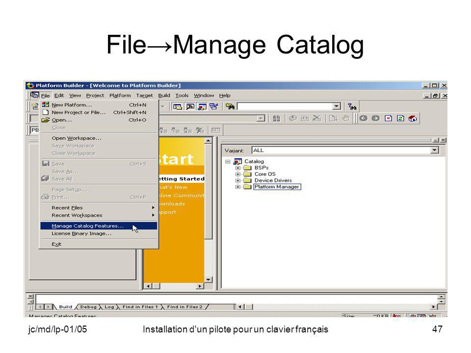 jc/md/lp-01/05Installation d'un pilote pour un clavier français47 FileManage Catalog