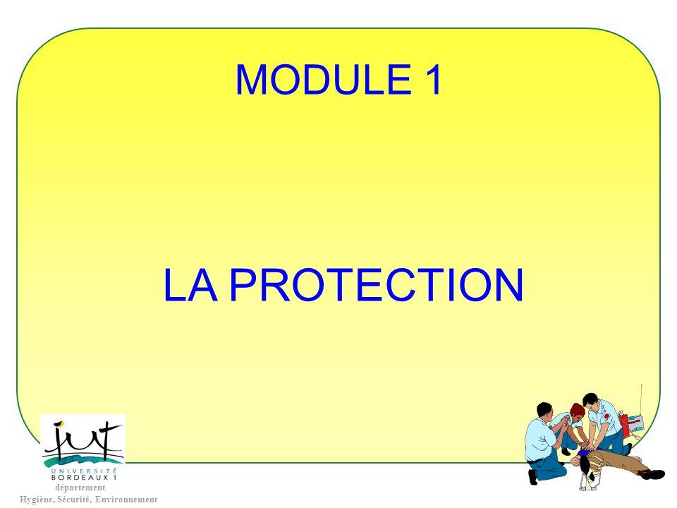 département Hygiène, Sécurité, Environnement MODULE 1 LA PROTECTION
