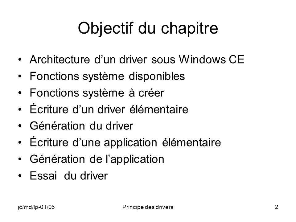 jc/md/lp-01/05Principe des drivers113 TargetRun Program