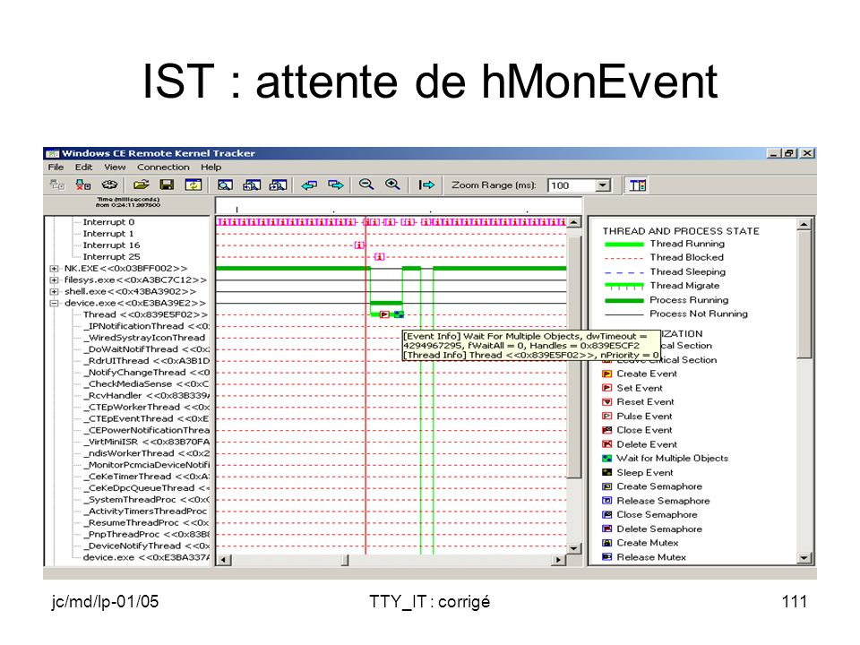 jc/md/lp-01/05TTY_IT : corrigé111 IST : attente de hMonEvent