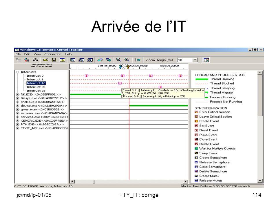 jc/md/lp-01/05TTY_IT : corrigé114 Arrivée de lIT