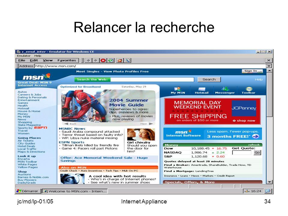 jc/md/lp-01/05Internet Appliance34 Relancer la recherche