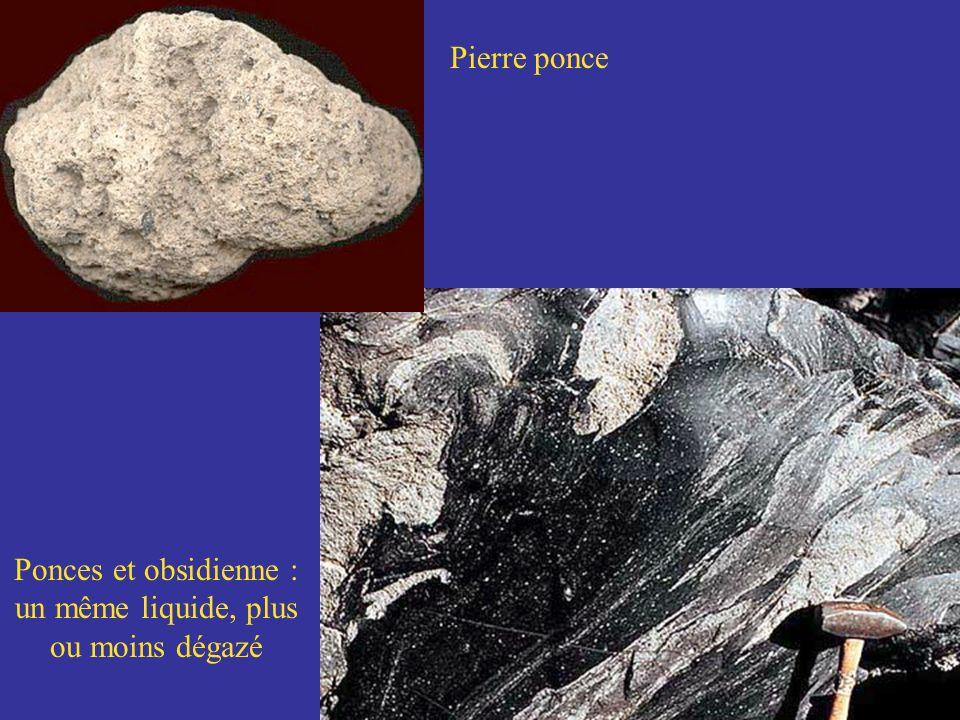 Pierre ponce Ponces et obsidienne : un même liquide, plus ou moins dégazé