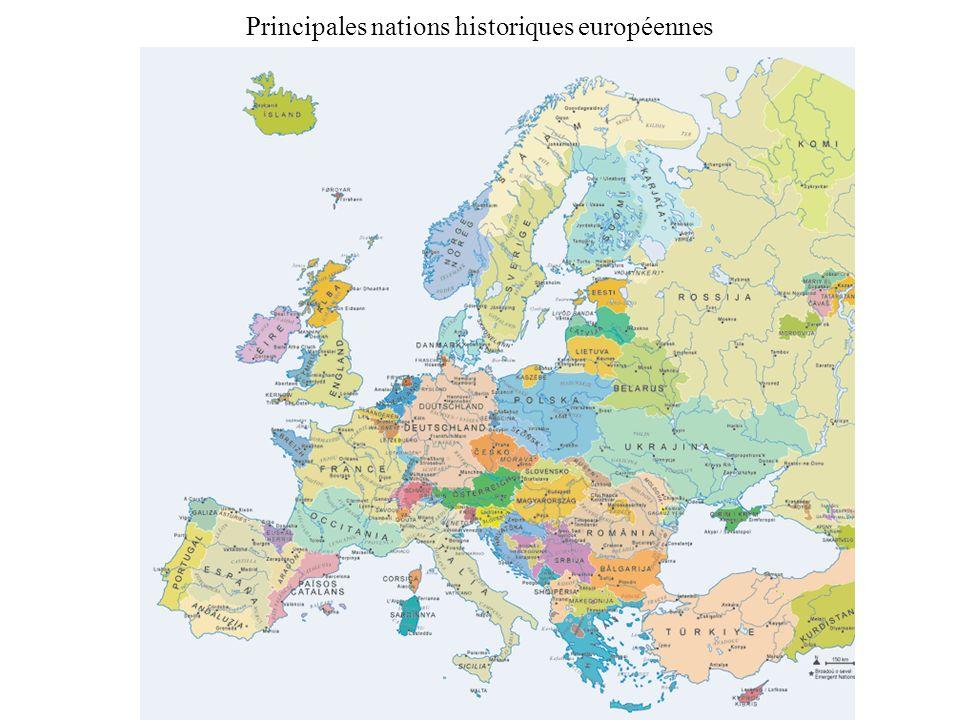 Principales nations historiques européennes