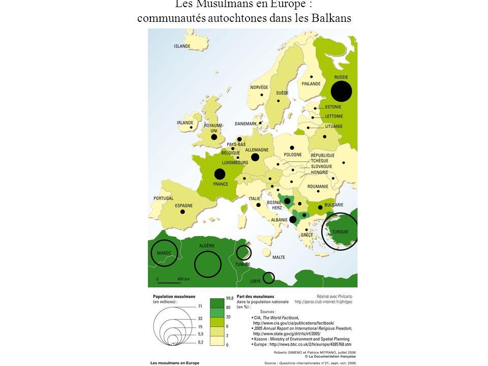 Les Musulmans en Europe : communautés autochtones dans les Balkans