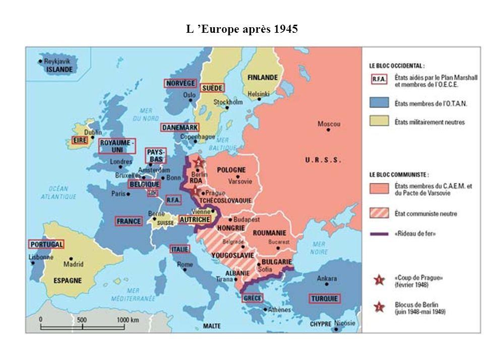 L Europe après 1945
