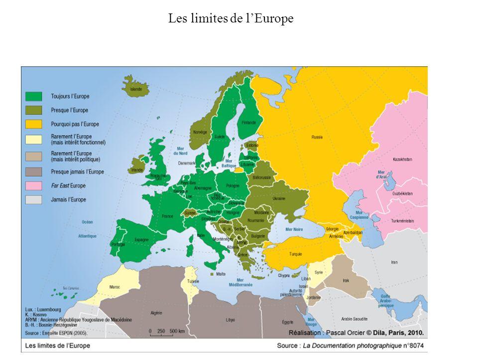 Les limites de lEurope
