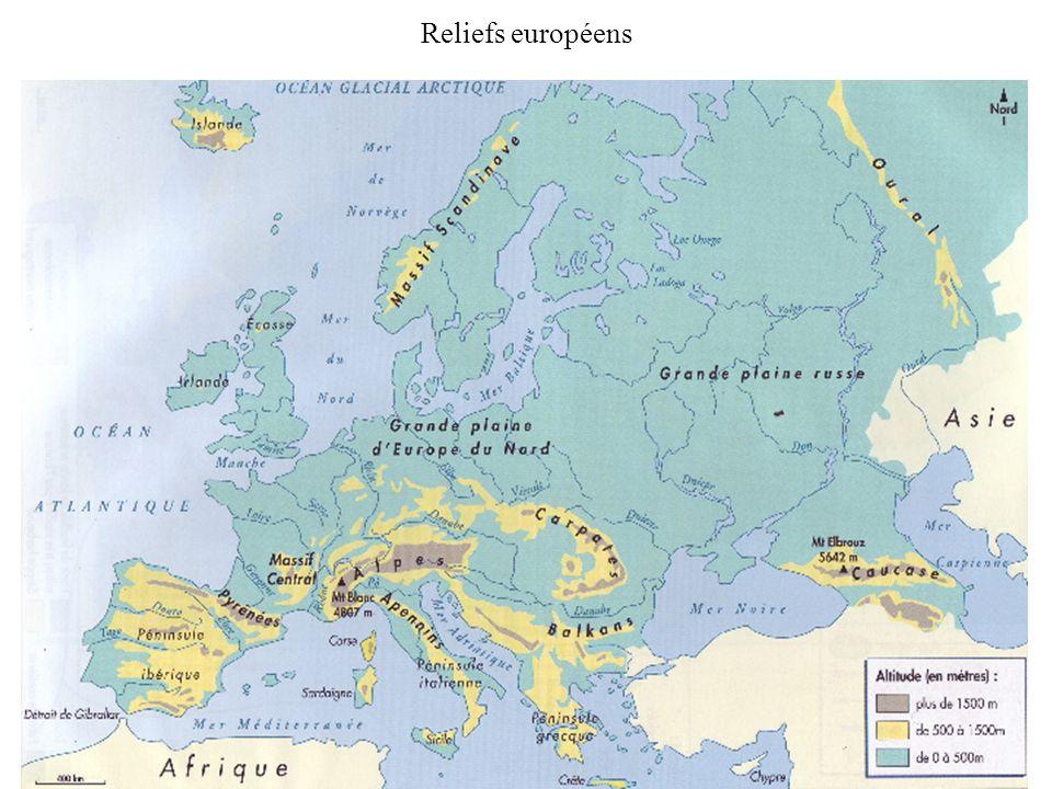 Reliefs européens