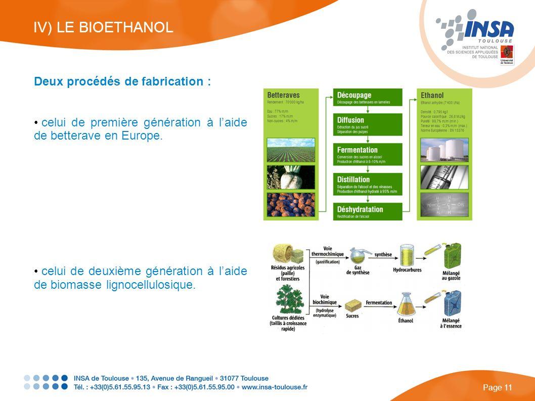 Deux procédés de fabrication : celui de première génération à laide de betterave en Europe. celui de deuxième génération à laide de biomasse lignocell