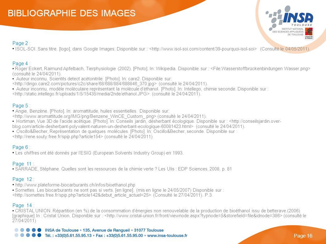 Page 2 : ISOL-SOI. Sans titre. [logo], dans Google Images. Disponible sur : (Consulté le 04/05/2011). Page 4 : Roger Eckert, Raimund Apfelbach, Tierph