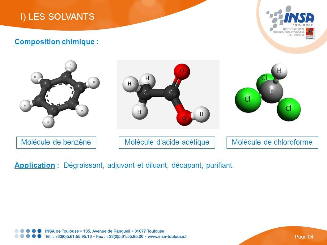 Composition chimique : Molécule de benzèneMolécule dacide acétiqueMolécule de chloroforme Application : Dégraissant, adjuvant et diluant, décapant, pu