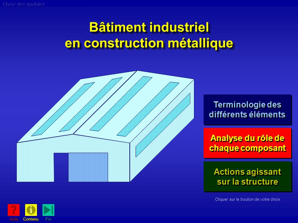 Bâtiment industriel en construction métallique Bâtiment industriel en construction métallique Actions agissant sur la structure Actions agissant sur l