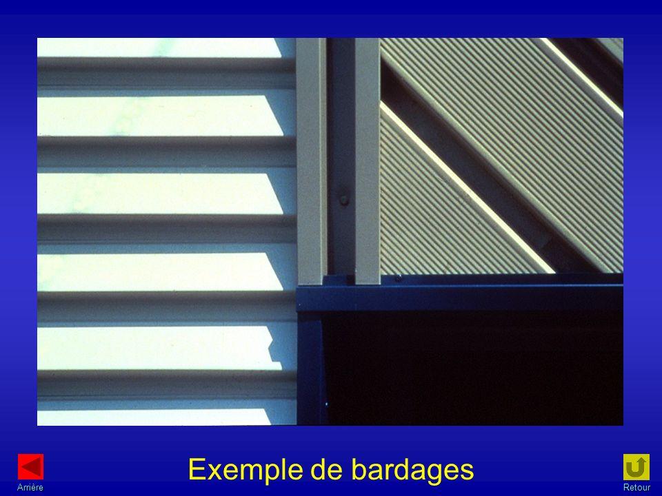 Exemple de bardages ArrièreRetour