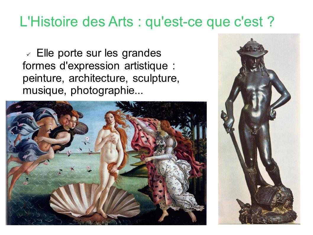 L Histoire des Arts : qu est-ce que c est .