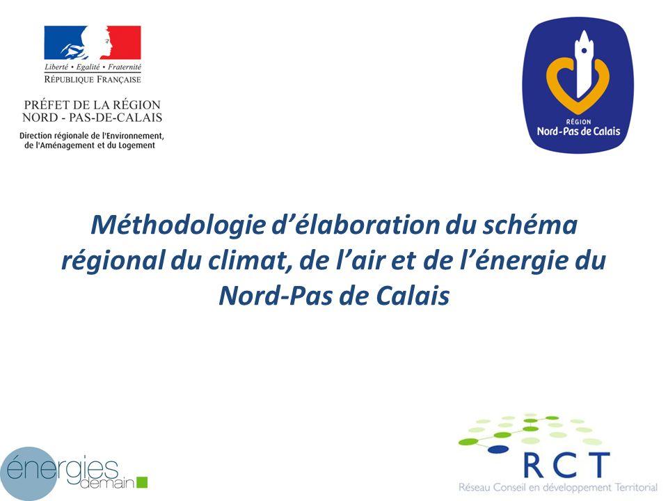 Méthodologie délaboration du schéma régional du climat, de lair et de lénergie du Nord-Pas de Calais