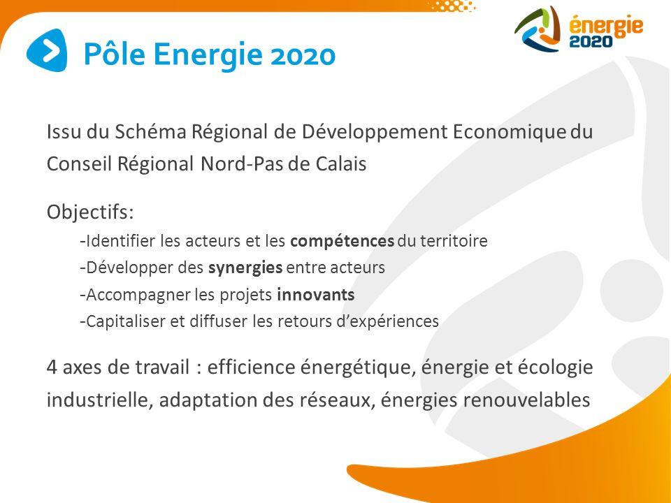 Issu du Schéma Régional de Développement Economique du Conseil Régional Nord-Pas de Calais Objectifs: - Identifier les acteurs et les compétences du t