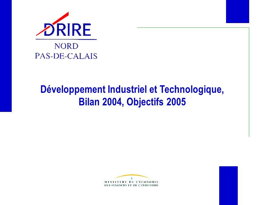 Développement Industriel et Technologique, Bilan 2004, Objectifs 2005
