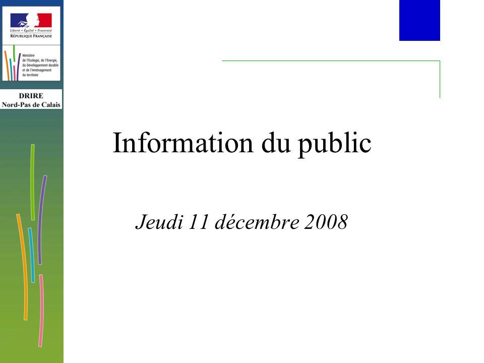 Information du public Jeudi 11 décembre 2008
