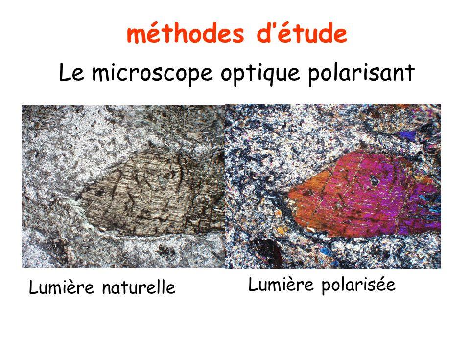 méthodes détude Le microscope optique polarisant Lumière naturelle Lumière polarisée
