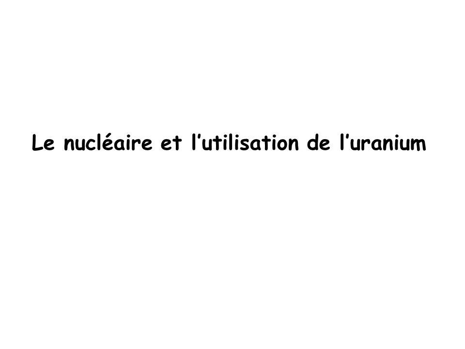 Le nucléaire et lutilisation de luranium