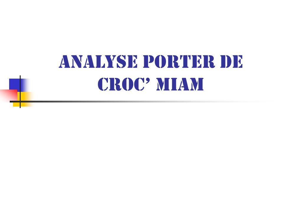 Analyse Porter de Croc Miam