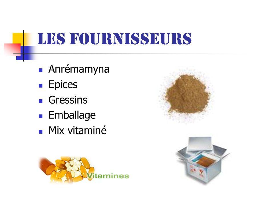 Les fournisseurs Anrémamyna Epices Gressins Emballage Mix vitaminé