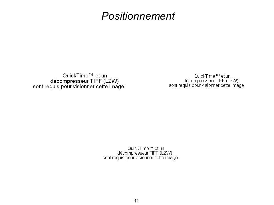 11 Positionnement