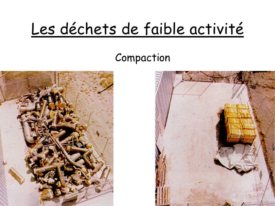 Les déchets de faible activité Compaction