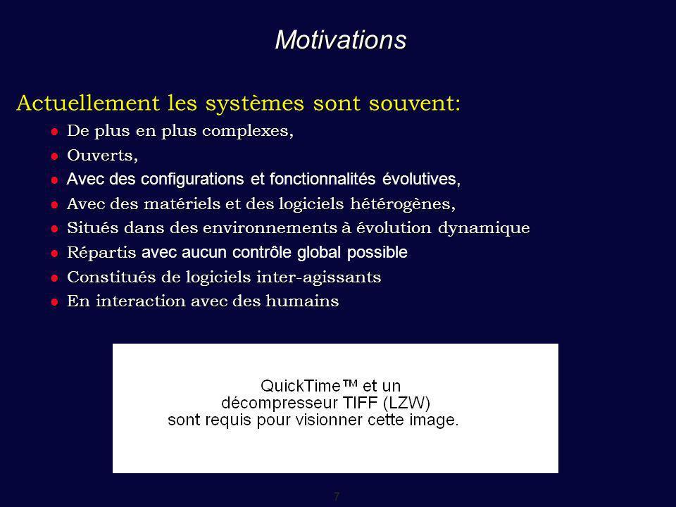 8 Une évolution du logiciel Problèmes cl és du logiciel : éolution, adaptation profil utilisateur, programmeur, environnement, contraintes - ex : QoS,...