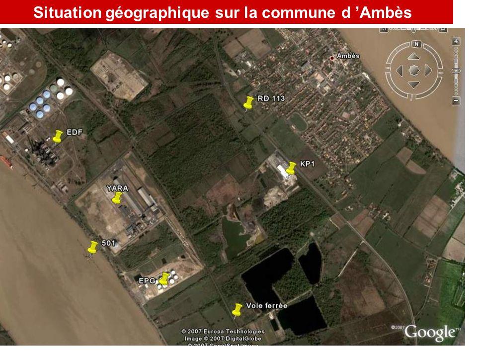 3 PLAN cartographique situant l établissement Situation géographique sur la commune d Ambès