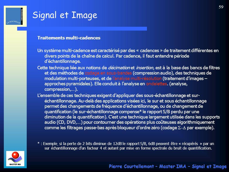 Signal et Image Pierre Courtellemont – Master IMA – Signal et Image 58 La solution consiste à prendre une image de dimension 2N x 2N au lieu de N x N