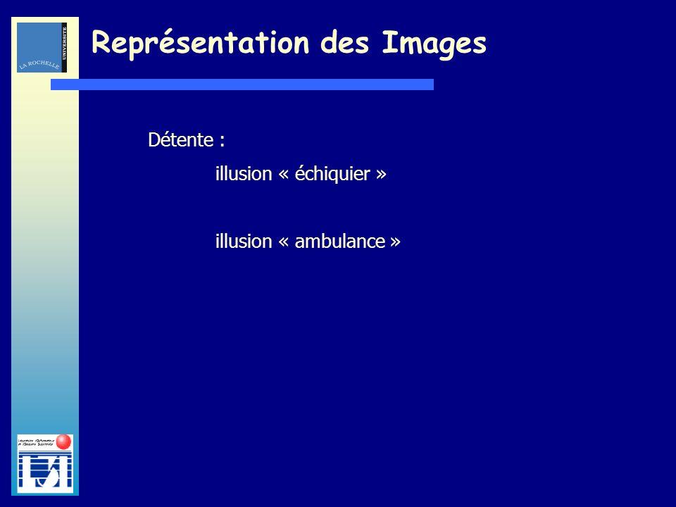Laboratoire dInformatique et dImagerie Industrielle Représentation des Images Détente : illusion « échiquier » illusion « ambulance »