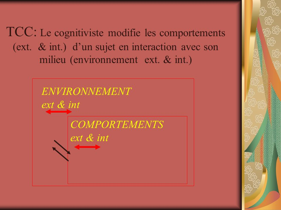 TCC: Le cognitiviste modifie les comportements (ext.