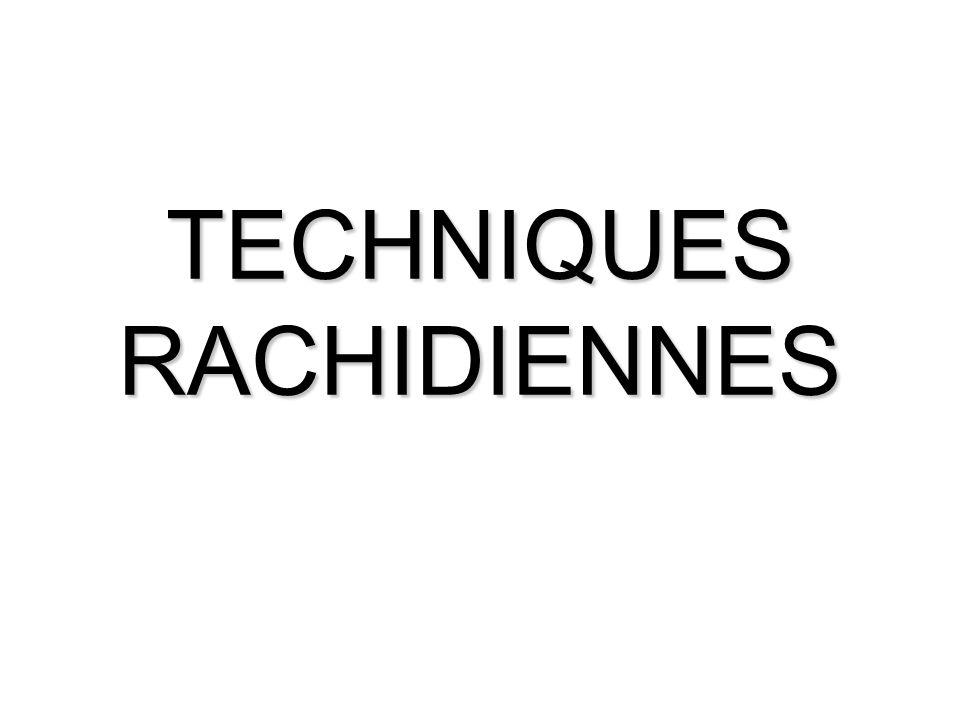TECHNIQUES RACHIDIENNES