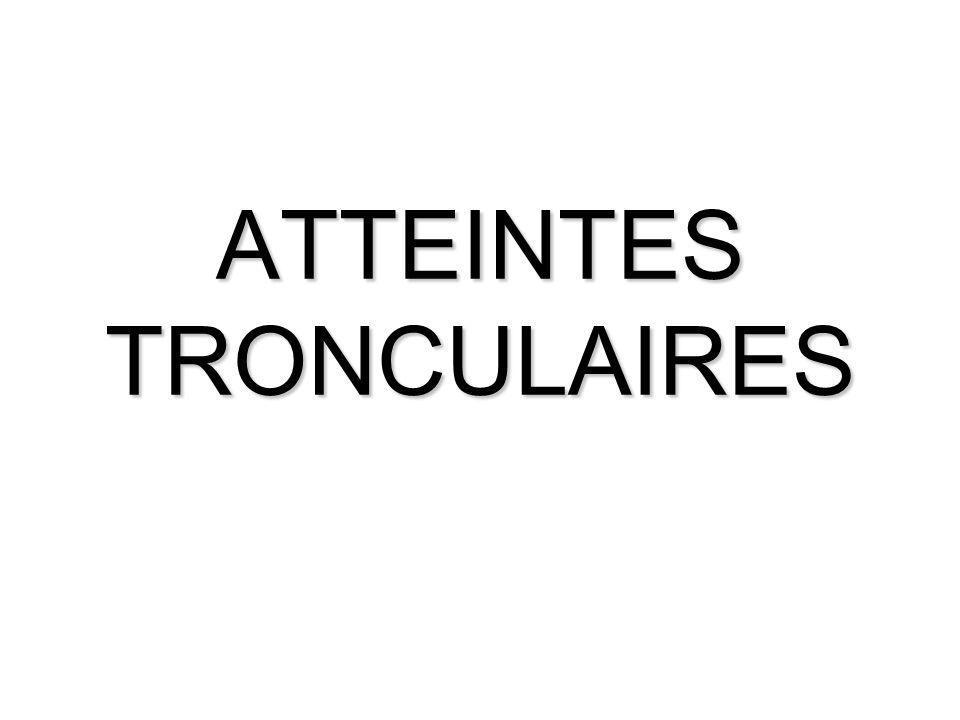 ATTEINTE MEDIANE Généralités Latteinte médiane occasionne des troubles sensitifs majeurs localisés à la face palmaire de la main (sauf face palmaire des 4 ème et 5 ème doigts), ainsi que des troubles trophiques importants.