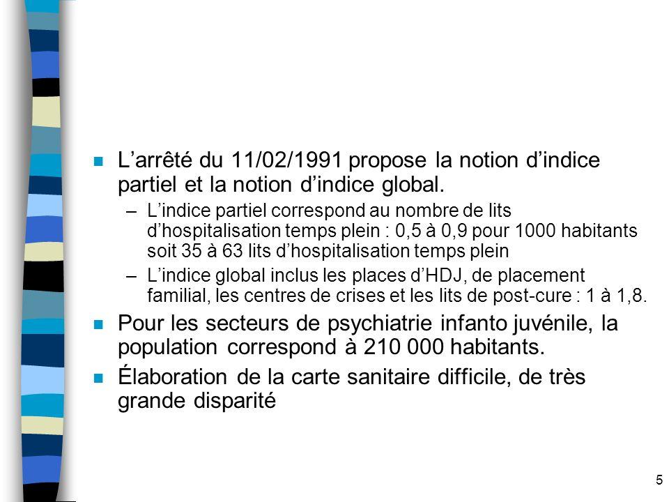 5 n Larrêté du 11/02/1991 propose la notion dindice partiel et la notion dindice global.