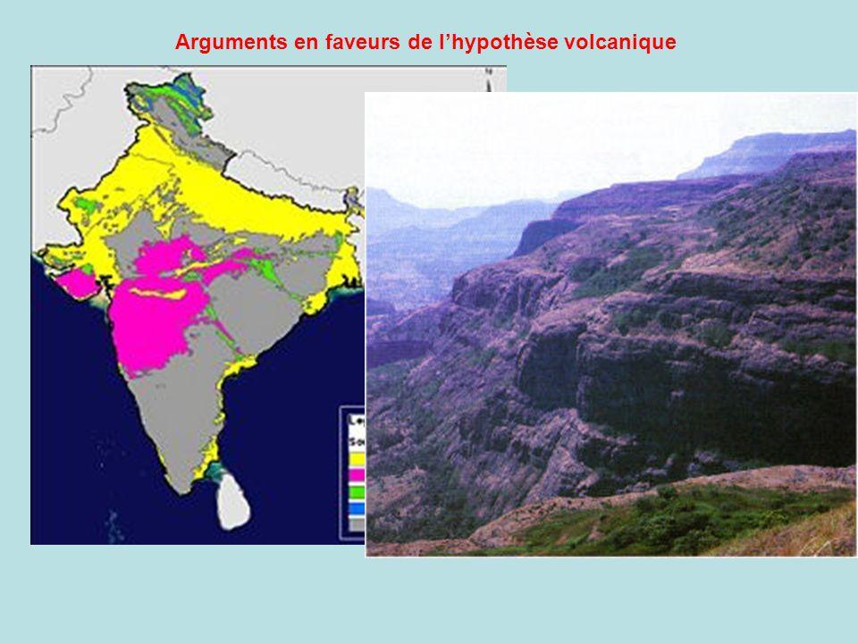 Arguments en faveurs de lhypothèse volcanique