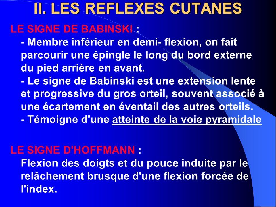 III LES REFLEXES ARCHAIQUES - Grasp-reflex - Succing reflex - Réflexe tonique d évitement.