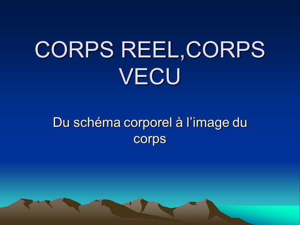 CORPS REEL,CORPS VECU Du schéma corporel à limage du corps