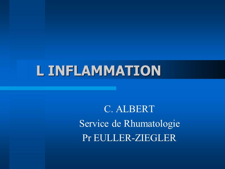 L INFLAMMATION C. ALBERT Service de Rhumatologie Pr EULLER-ZIEGLER