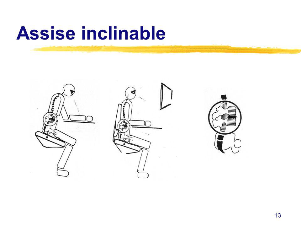 13 Assise inclinable