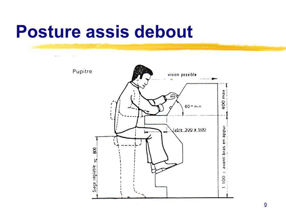 9 Posture assis debout