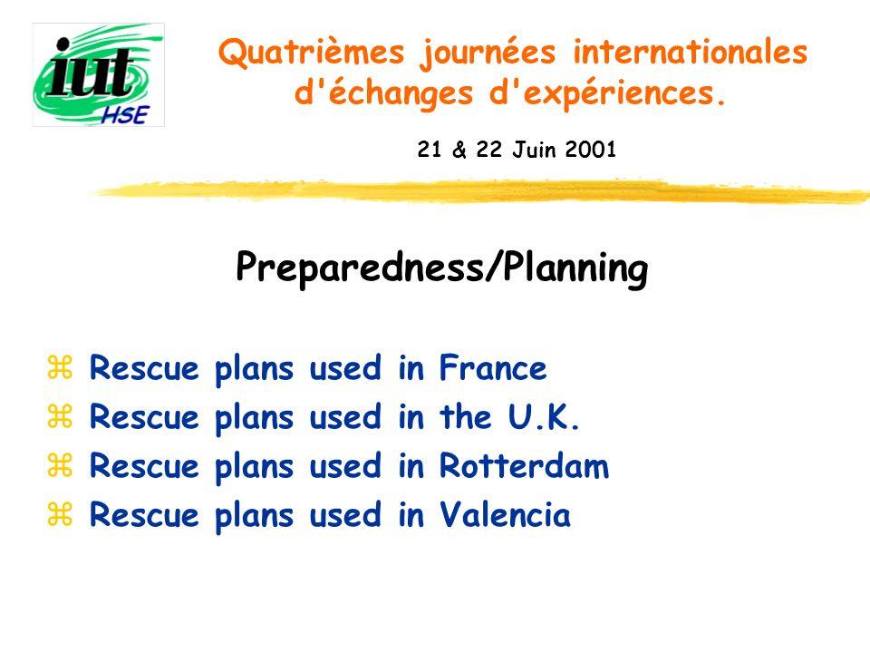 Conclusion Quatrièmes journées internationales d échanges d expériences. 21 & 22 Juin 2001