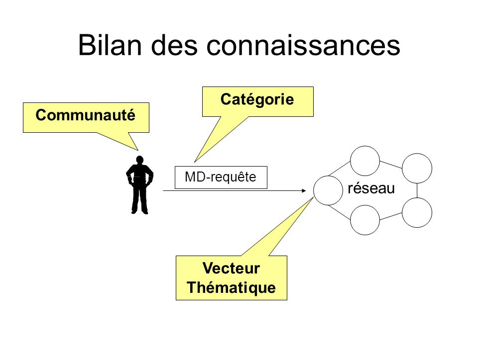Bilan des connaissances réseau MD-requête Communauté Catégorie Vecteur Thématique