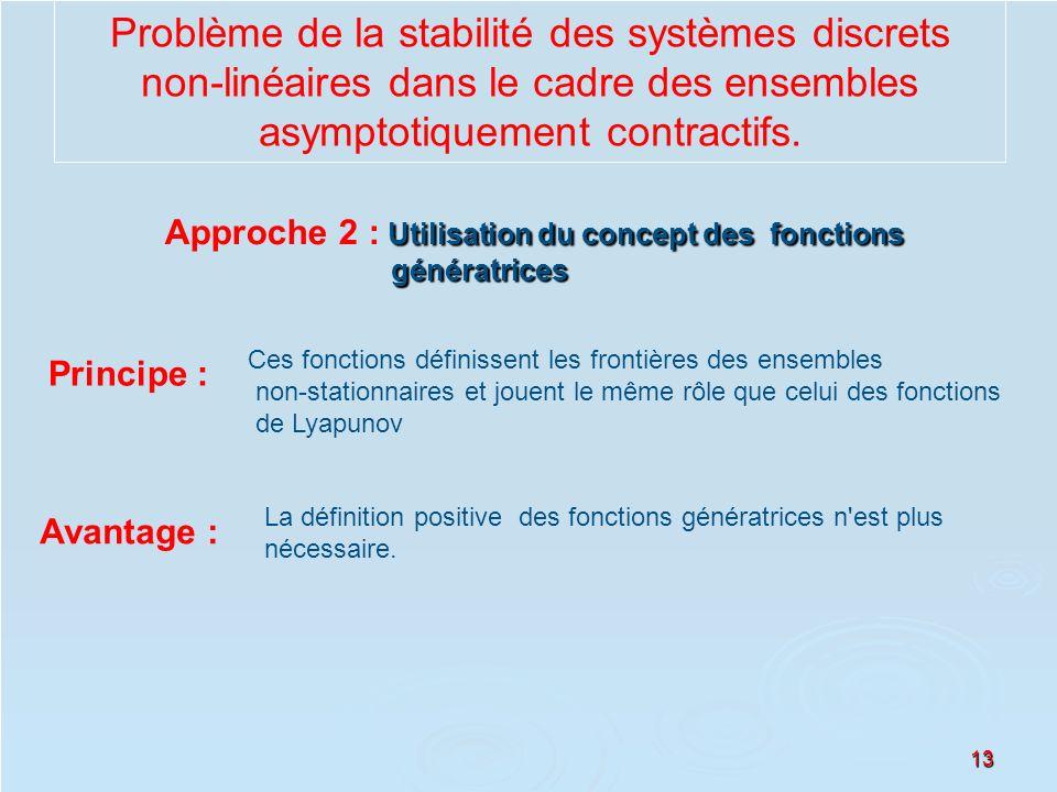 13 Problème de la stabilité des systèmes discrets non-linéaires dans le cadre des ensembles asymptotiquement contractifs. Utilisation du concept des f